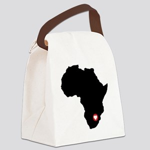 Africa red heart Canvas Lunch Bag