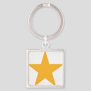 yellow-star-symbol Square Keychain