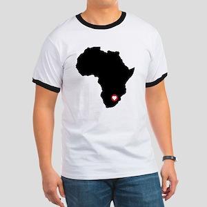 Africa red heart Ringer T