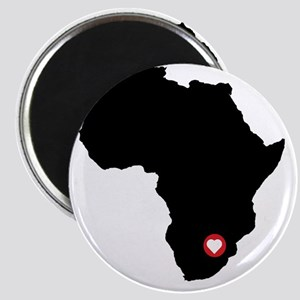 Africa red heart Magnet