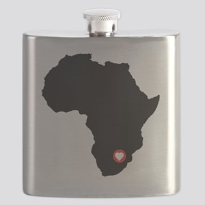 Africa red heart Flask