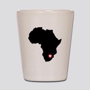 Africa red heart Shot Glass