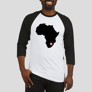 Africa red heart Baseball Jersey