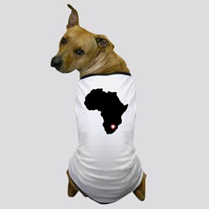 Africa red heart Dog T-Shirt