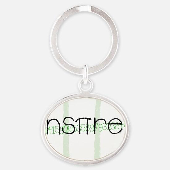 Green Inspire Oval Keychain