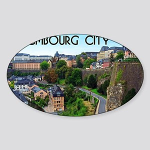 Luxembourg City Sticker (Oval)