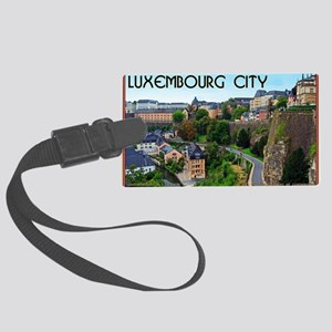 Luxembourg City Large Luggage Tag