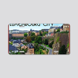 Luxembourg City Aluminum License Plate