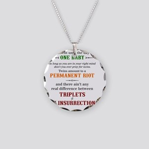 twain quote Necklace Circle Charm