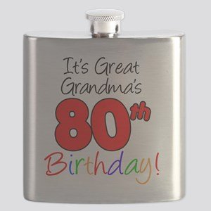 Great Grandmas 80th Birthday Flask