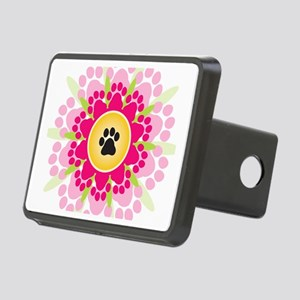 Paw Prints Flower Rectangular Hitch Cover