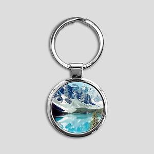 Lago escondido Round Keychain