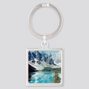 Lago escondido Square Keychain