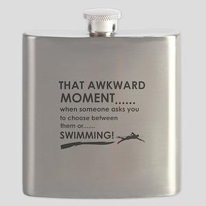 Awkward moment swimming Flask