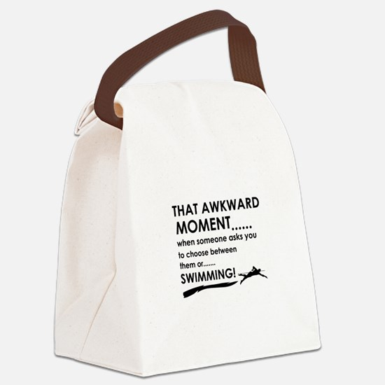 Awkward moment swimming Canvas Lunch Bag