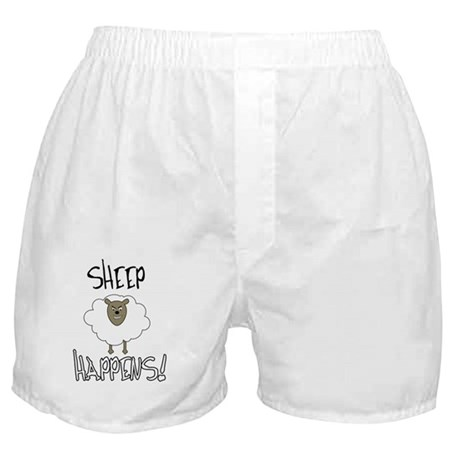 Sheep Happens Boxer Shorts