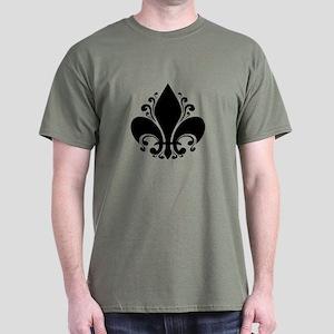 Fleur II -bw Dark T-Shirt