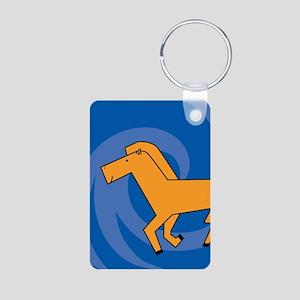 HorseKO Aluminum Photo Keychain