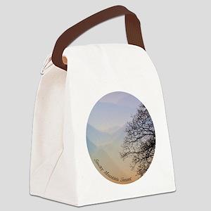 TreeSunsetRidges_13Cir Canvas Lunch Bag