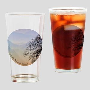 TreeSunsetRidges_13Cir Drinking Glass