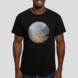TreeSunsetRidges_13Cir Men's Fitted T-Shirt (dark)