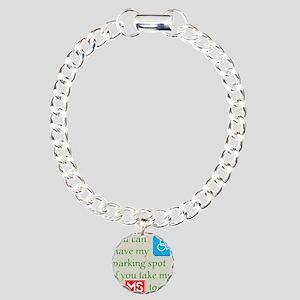 10 x 10 HandicapParking Charm Bracelet, One Charm