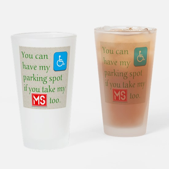 10 x 10 HandicapParking Drinking Glass
