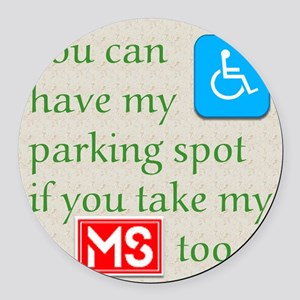 10 x 10 HandicapParking Round Car Magnet