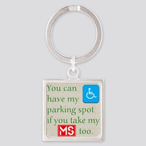 10 x 10 HandicapParking Square Keychain