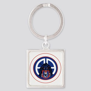 Panther v1_3rd-505th-White Square Keychain