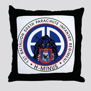 Panther v1_1st-505th Throw Pillow