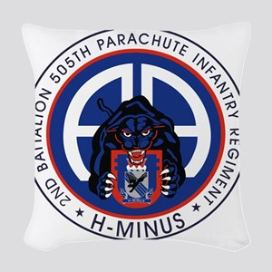 Panther v1_2nd-505th Woven Throw Pillow
