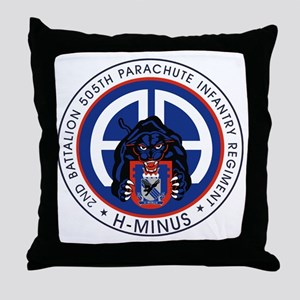 Panther v1_2nd-505th Throw Pillow