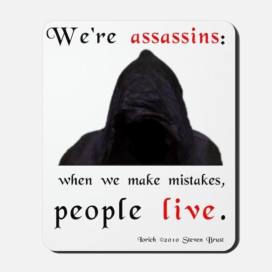 assassins-mistakes-jons-version Mousepad