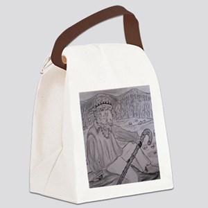 Summer Sheep Camp Canvas Lunch Bag