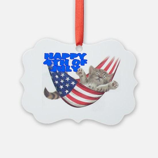 CAT 4TH.gif Ornament