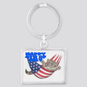 CAT 4TH Landscape Keychain