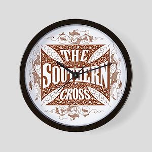 southern cross-brick red Wall Clock
