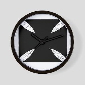 southern cross-solid black Wall Clock