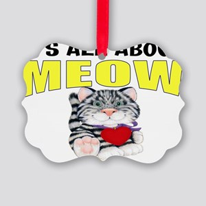 funny cat gift Picture Ornament