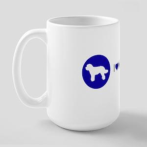 Love My Doodles Blue Large Mug