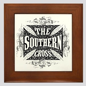 southern cross - black Framed Tile
