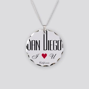 SanDiego_10x10_ILoveU_BlackR Necklace Circle Charm