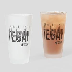 vegan-01 Drinking Glass