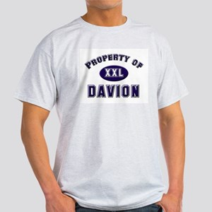 Property of davion Ash Grey T-Shirt