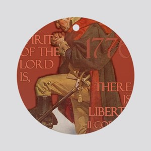 Washington There is Liberty Round Ornament
