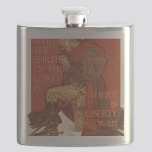 Washington There is Liberty Flask