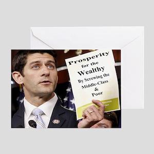 Paul Ryan Screw Working Class Budget Greeting Card
