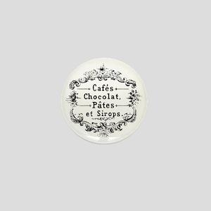 chocolat cafe  Mini Button