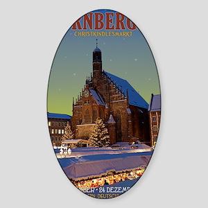 Nurnberg - Frauenkirche Night Sticker (Oval)